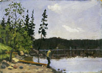 Edvard Munch Fisherman by the Water