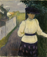 Edvard Munch Inger in a White Blouse