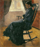 Edvard Munch Karen Bjølstad in the Rocking Chair