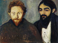 Edvard Munch Paul Herrmann and Paul Contard