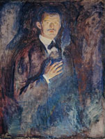 Edvard Munch Self-Portrait with Cigarette