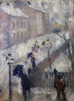 Edvard Munch Street in Winter