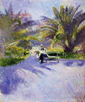 Edvard Munch Under the Palm Trees in Nice