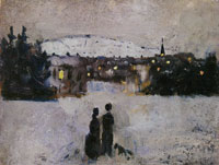 Edvard Munch View of the City on a Winter's Day