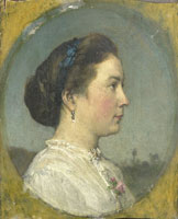 Jacob Maris Catharina Hendrika Horn, the Artist's Wife