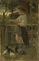 Jacob Maris 'Feeding the Chickens'