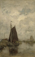 Jacob Maris Ships in Dull Weather