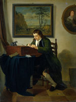 Jan Ekels the Younger A Man Writing at his Desk