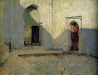 John Singer Sargent Entrance to a Mosque