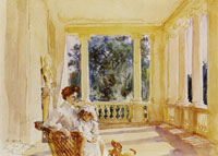 John Singer Sargent Mrs Ralph Curtis with her Daughter, Sylvia