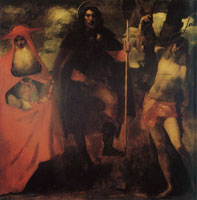 John Singer Sargent Saint Roch with Saint Jerome and Saint Sebastian, after a Picture attributed to Alessandro Oliverio