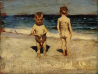 John Singer Sargent Two Boys on a Beach, Naples