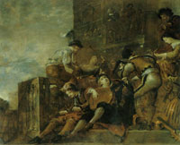 Leonaert Bramer Music-Making Figures on a Terrace