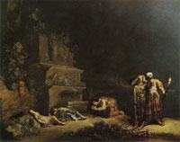 Leonaert Bramer The Finding of the Bodies of Pyramus and Thisbe