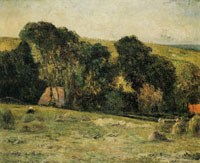 Paul Gauguin Haymaking, near Dieppe