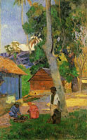 Paul Gauguin Near the Huts