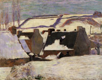 Paul Gauguin Pont-Aven in the Snow