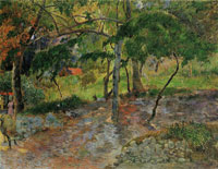 Paul Gauguin River under Trees, Martinique