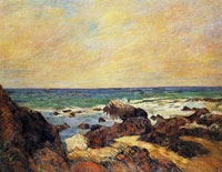 Paul Gauguin Rocks, Sea