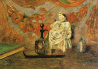 Paul Gauguin Still Life with Carafon and Figurine