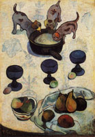 Paul Gauguin Still Life with Three Little Dogs