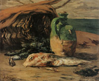 Paul Gauguin Still Life with Jug and Red Mullet