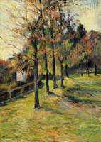 Paul Gauguin Tree-Lined Road, Rouen II
