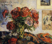 Paul Gauguin Vase of Peonies I