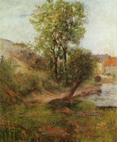 Paul Gauguin Willow by the Aven