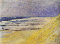 Piet Mondriaan - Beach with Three or Four Piers at Domburg