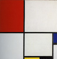 Piet Mondrian Composition No. III, with Red, Blue, Yellow, and Black