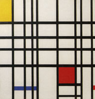 Piet Mondrian Composition with Yellow, Blue, and Red