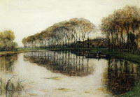 Piet Mondriaan Farmstead with Long Row of Trees on the Gein