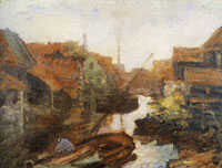 Piet Mondriaan Lange Bleekerssloot: View toward the Kostverlorenvaart
