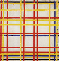 Piet Mondrian - New York City 1 (unfinished)