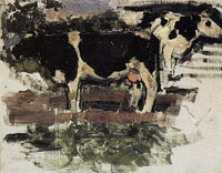 Piet Mondriaan Study of Two Cows