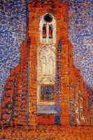 Piet Mondriaan Sun, Church in Zeeland: Zoutelande Church Facade