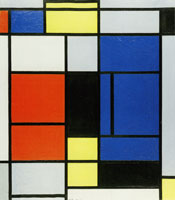 Piet Mondrian Tableau No. 1 with Red, Yellow, Black, and Gray