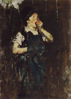 William Merritt Chase Boy Eating an Apple (The Apprentice Boy)