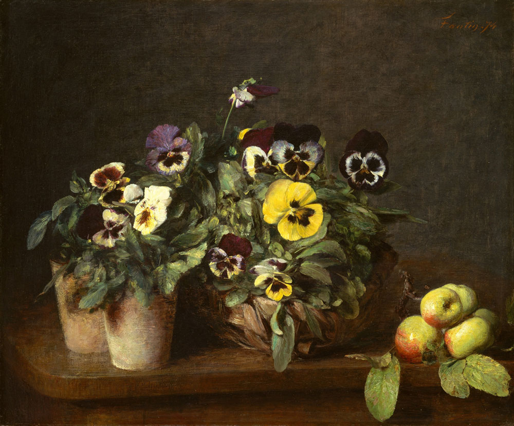 Henri Fantin-Latour - Still Life with Pansies