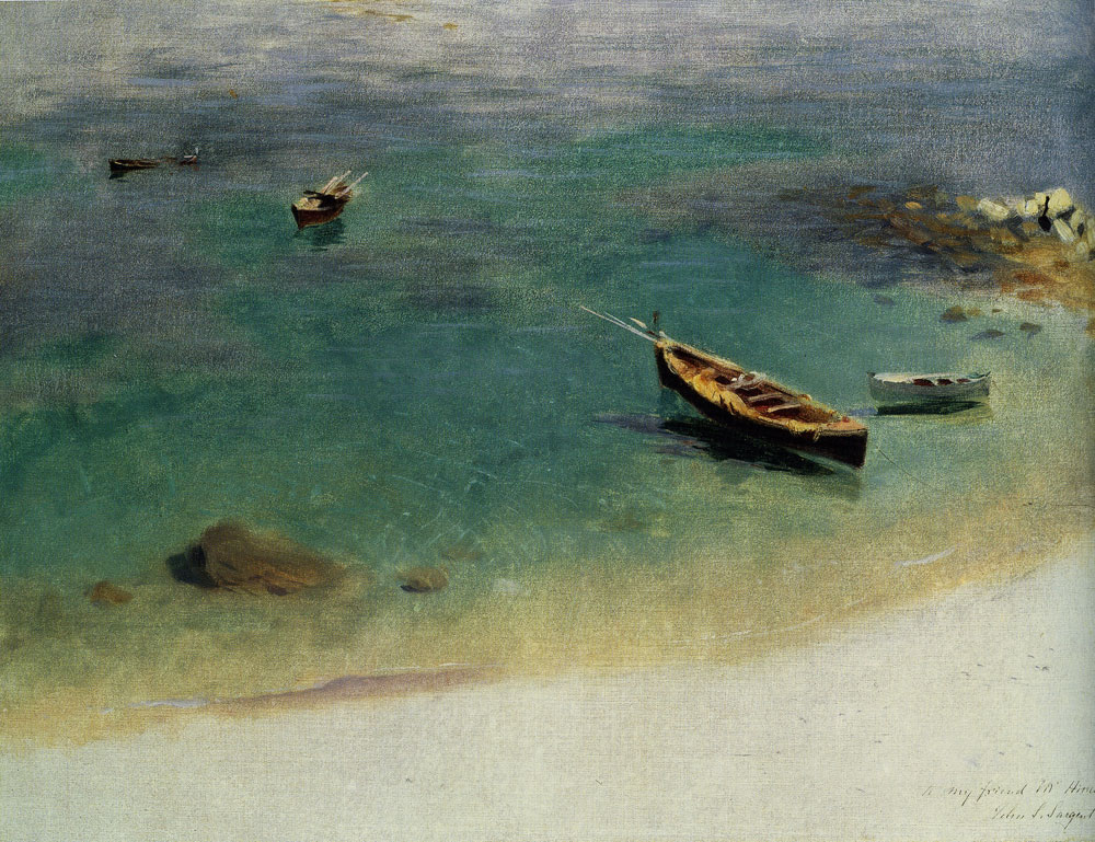 John Singer Sargent - A Boat in the Waters off Capri