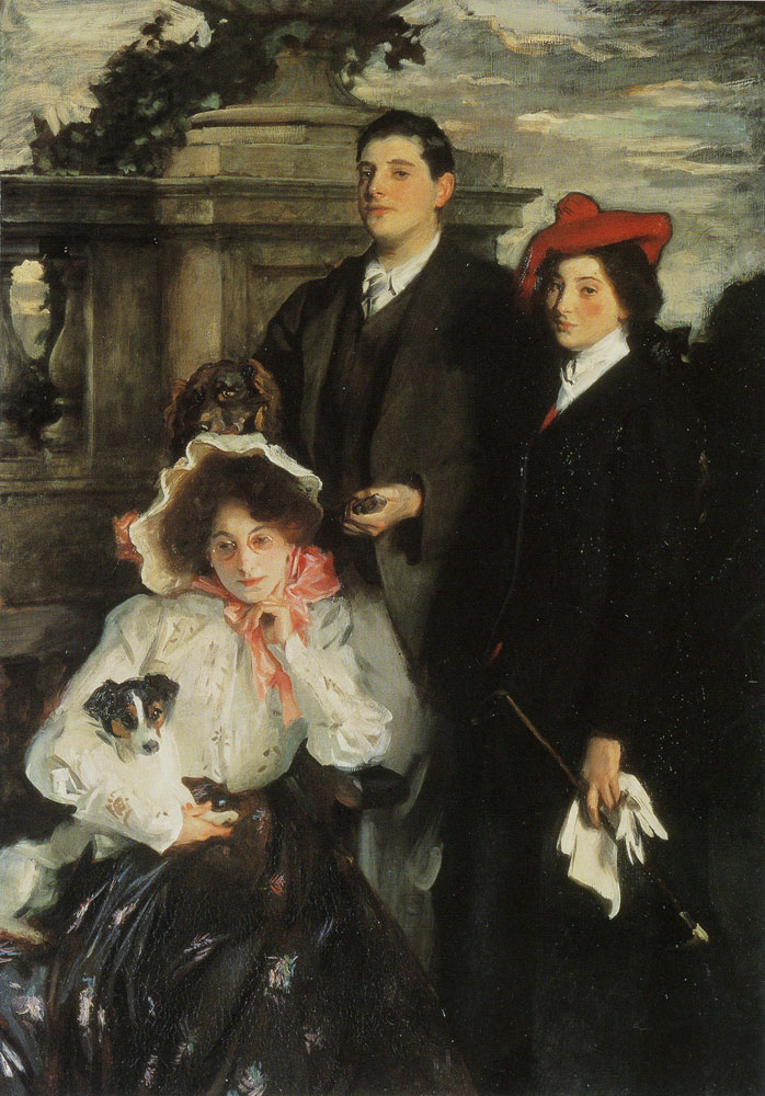 John Singer Sargent - Hylda, Almina and Conway, Children of Asher Wertheimer