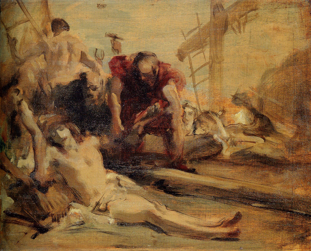 John Singer Sargent - The Descent from the Cross, after Giandomenico Tiepolo