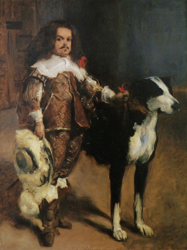 John Singer Sargent - Dwarf with a Dog, after Velazquez