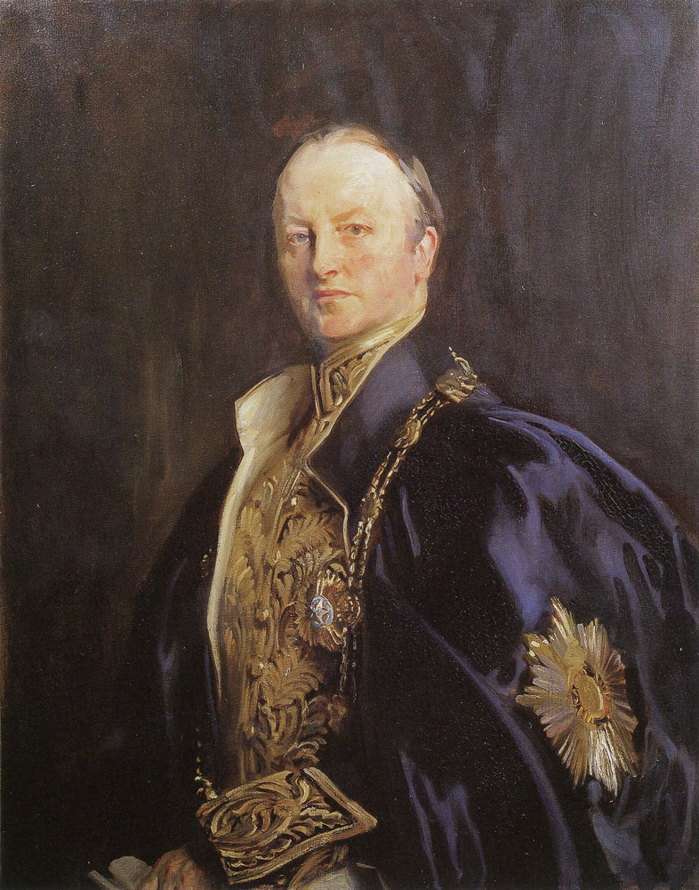 John Singer Sargent - The Right Honourable Earl Curzon of Kedleston