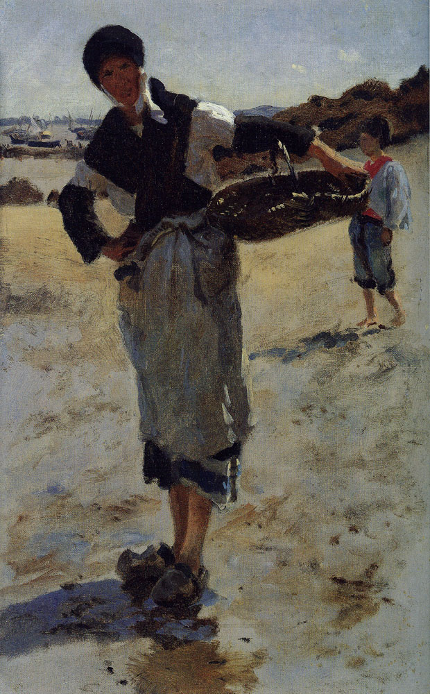 John Singer Sargent - Study for 'Oyster Gatherers of Cancale'