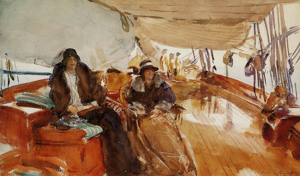 John Singer Sargent - Rainy Day on the Deck of the Yacht Constellation