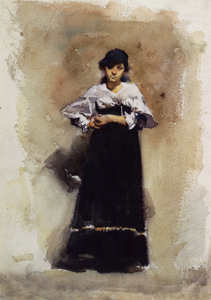 John Singer Sargent - Young Woman in a Black Skirt