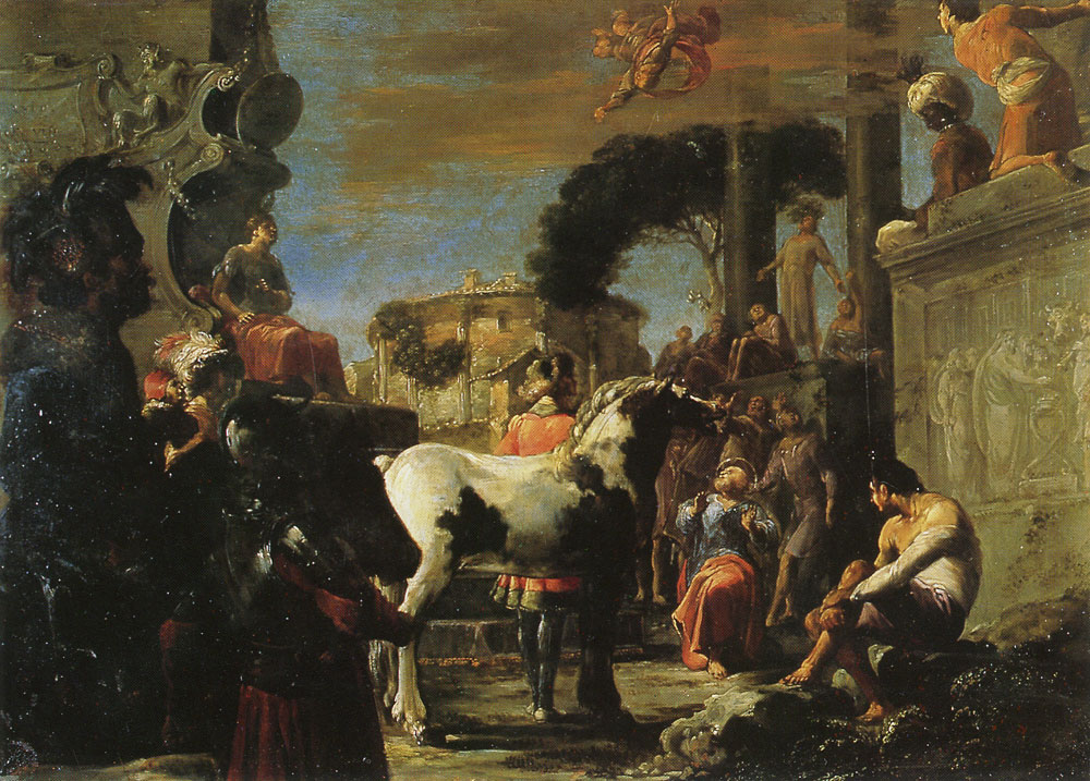 Leonaert Bramer - The Fall of Simon Magus