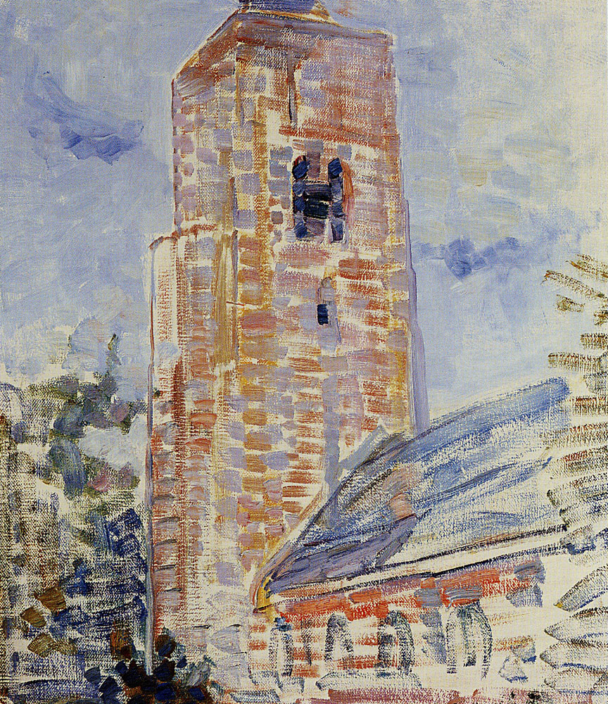 Piet Mondriaan - Church at Oostkapelle, Nave and Tower
